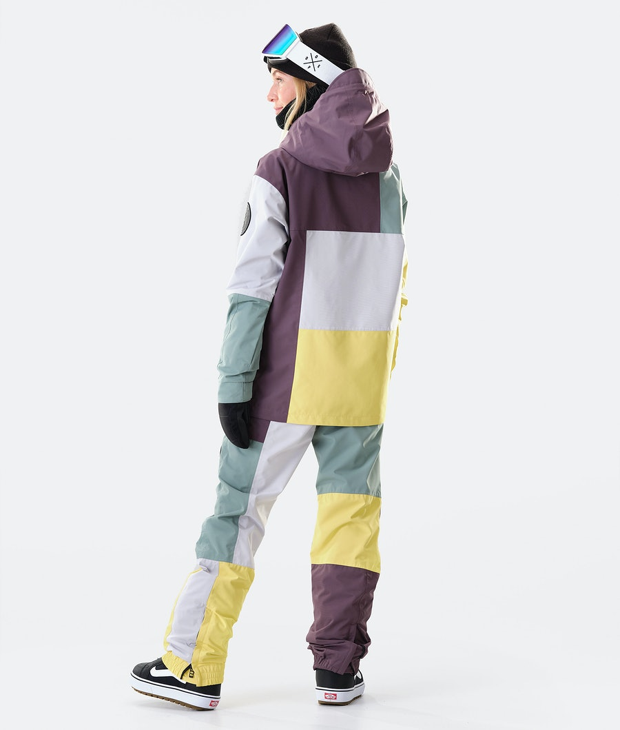 Dope Blizzard LE W Snowboard jas Dames Faded Green Patchwork