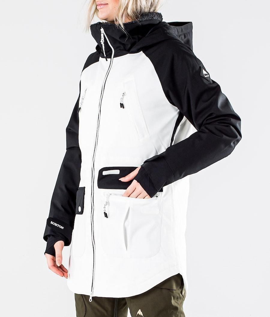 Burton Prowess Snowboardjakke Dame True Black/Stout White
