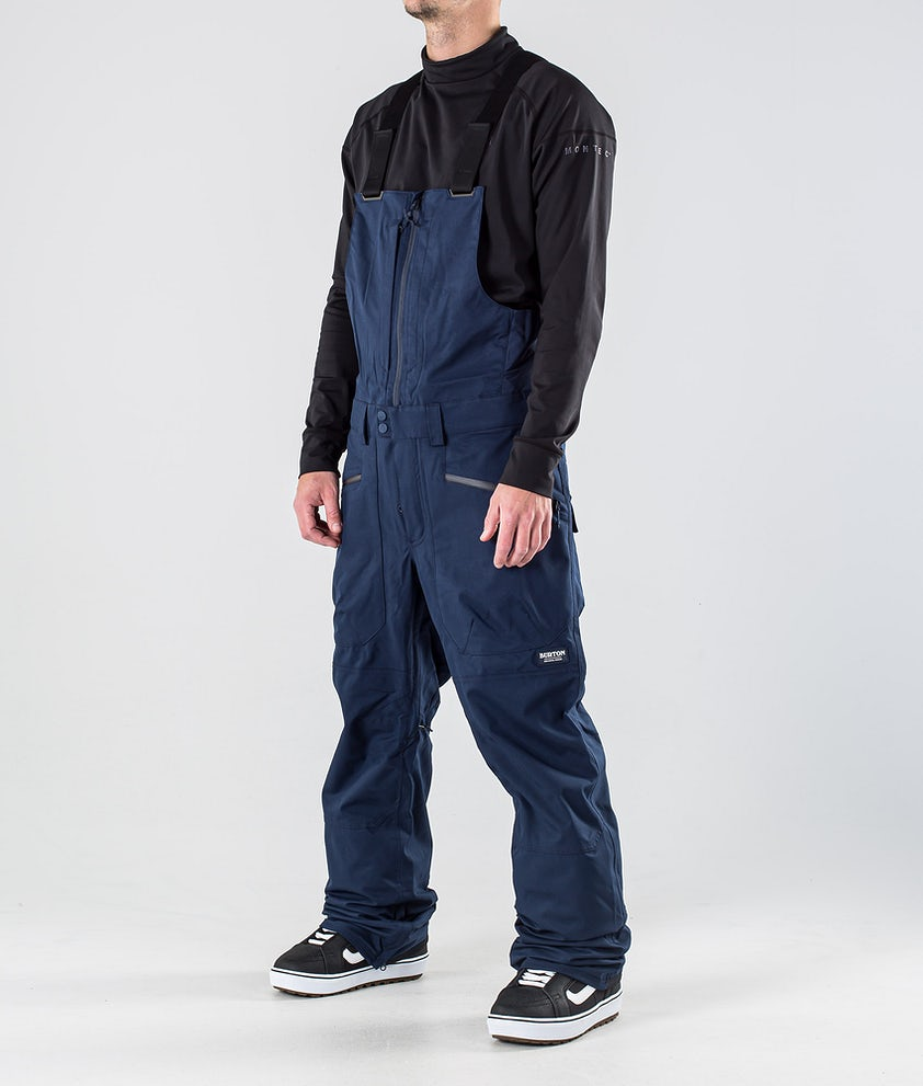 Burton Reserve Bib Snowboardbukse Dress Blue