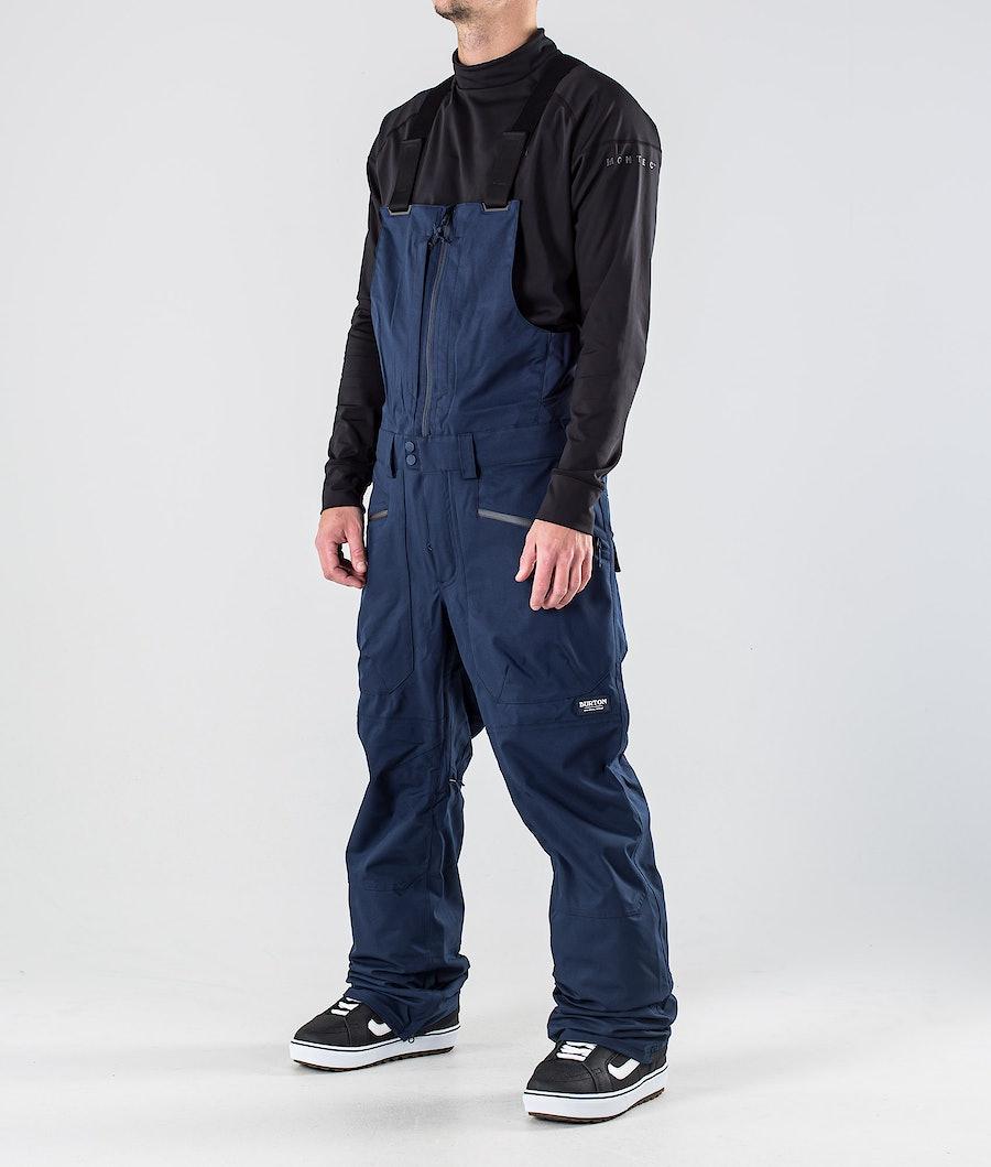Burton Reserve Bib Snowboard Pants Dress Blue
