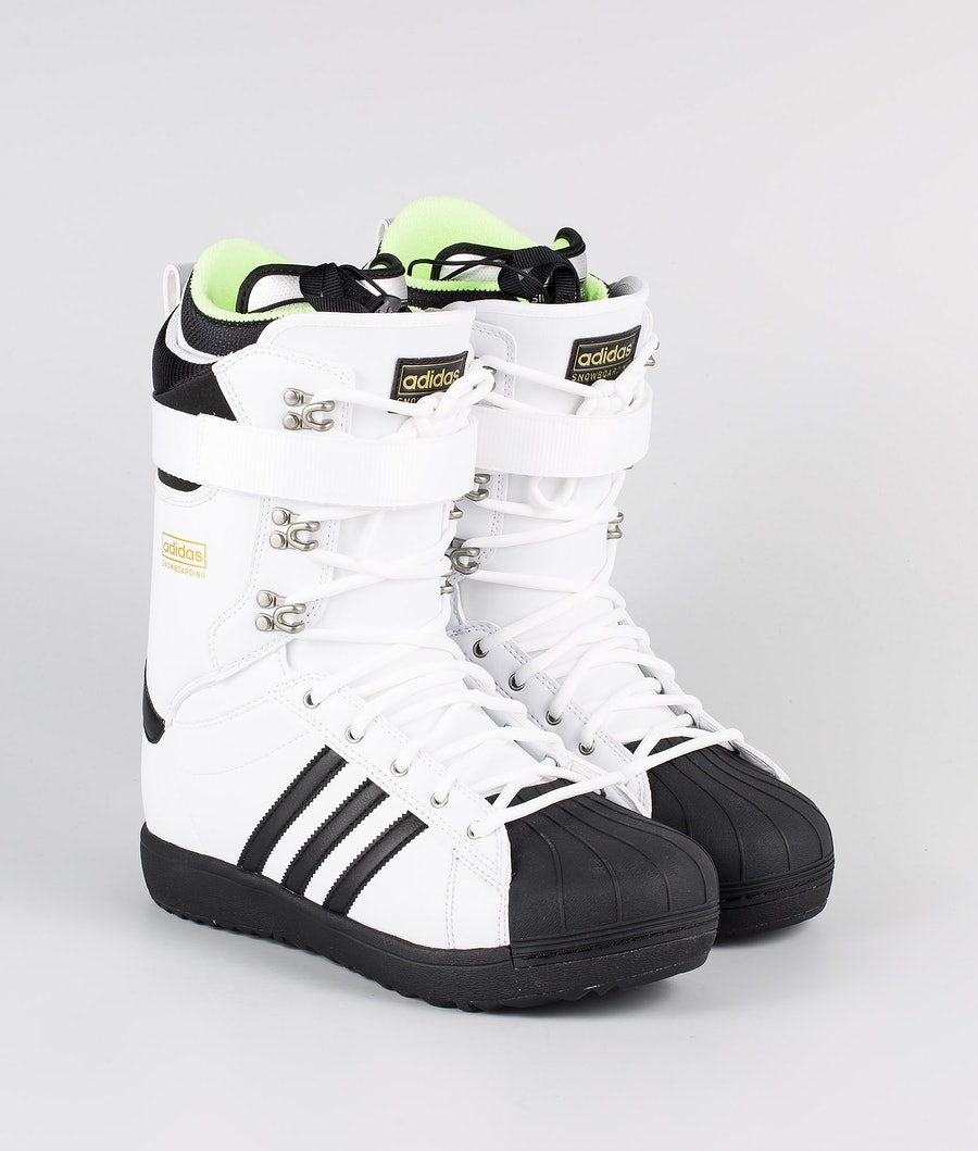 Adidas Snowboarding Superstar Adv Lumilautakengät Footwear White/Core Black/Gold Met