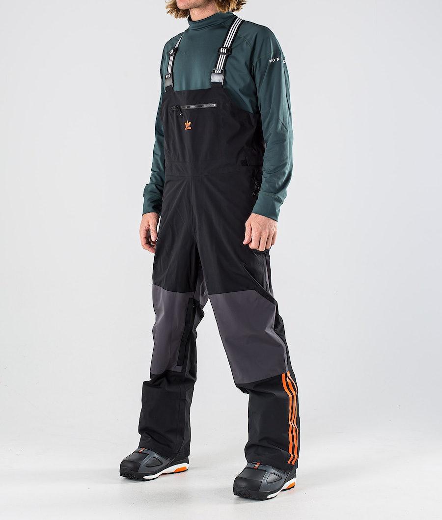 Adidas Snowboarding 3L Bib Snowboardhose Black/Utility Black/Orange