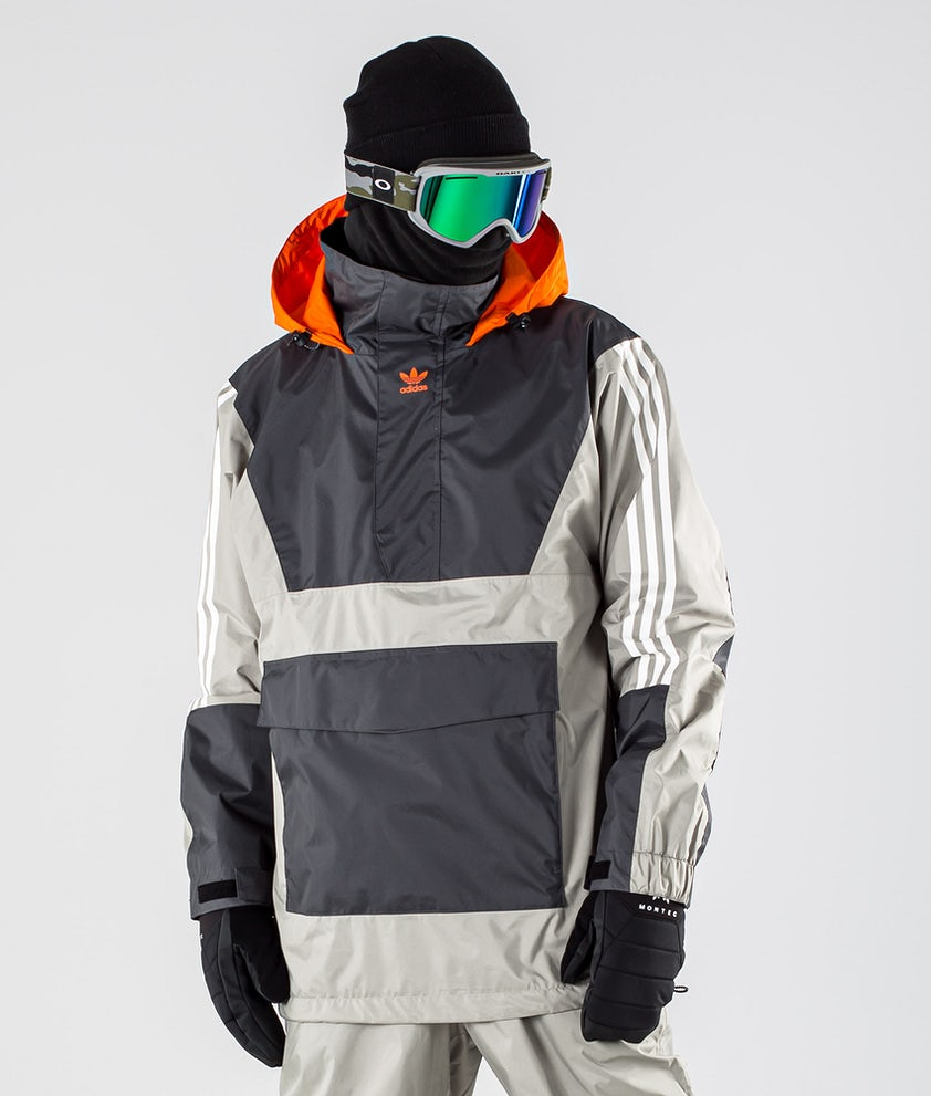 Adidas Snowboarding Anorak 10K Snowboard Jacket Grey Six/Feather Grey/Orange
