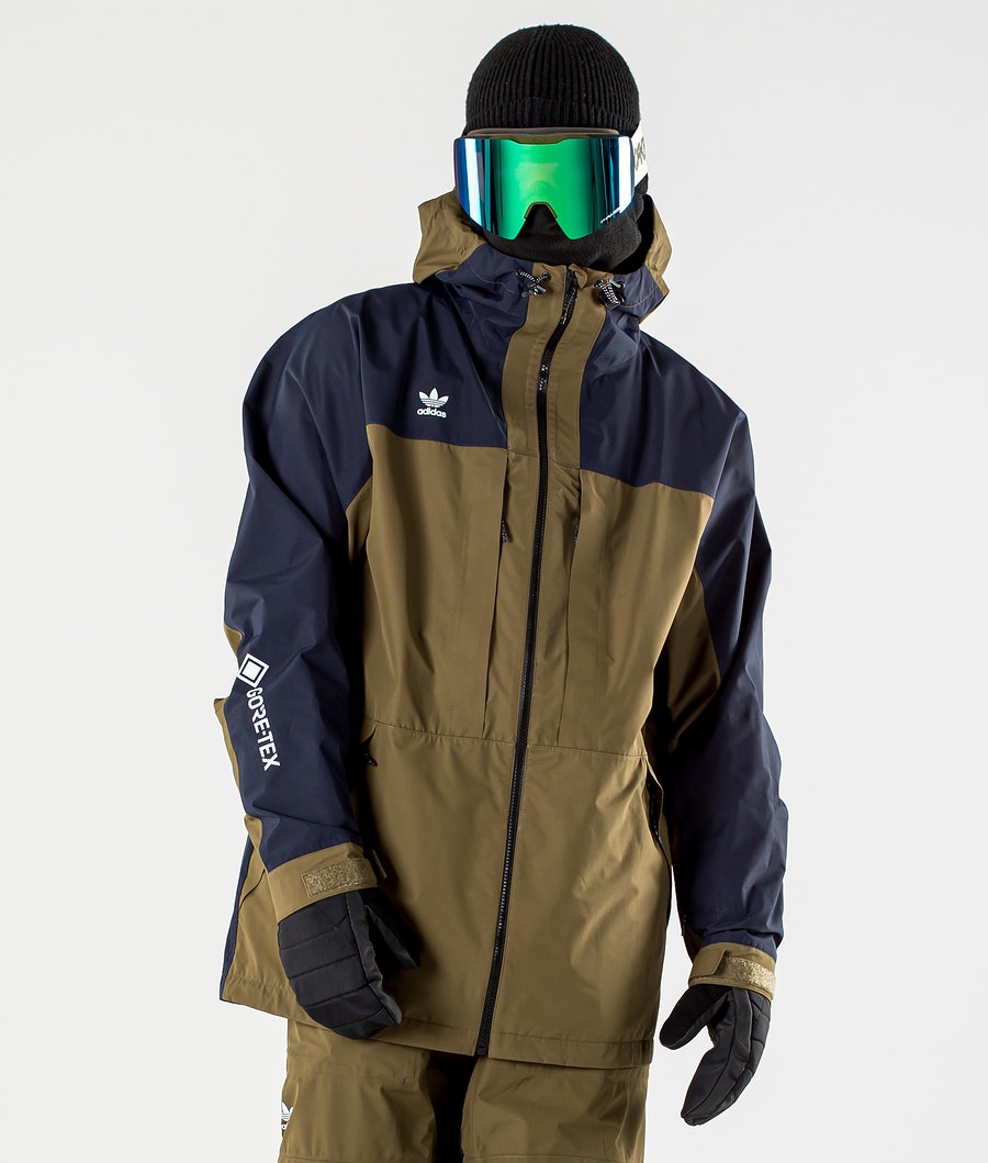 Adidas Snowboarding Gore-Tex Adi Snowboard Jacket Legend Ink/Trace Olive/Ice Blue