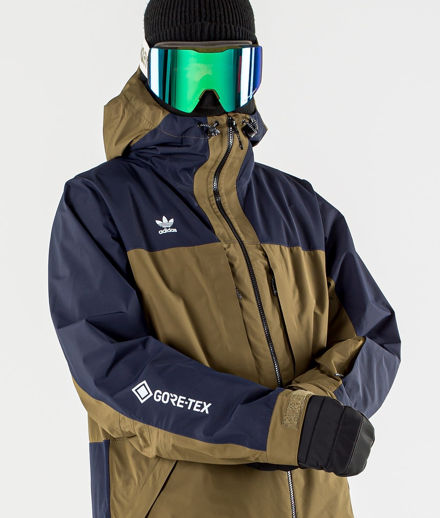 Adidas Snowboarding Gore-Tex Adi Snowboardjacka Legend Ink/Trace Olive/Ice Blue