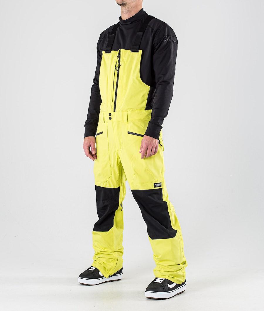Burton Reserve Bib Snowboard Pants Limeade