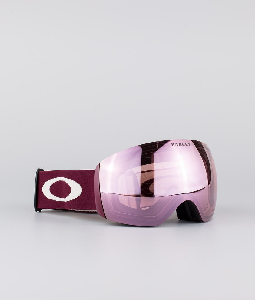 Oakley Flight Deck XL Ski Goggle Grenache Grey With Prizm Snow Hi Pink Lens