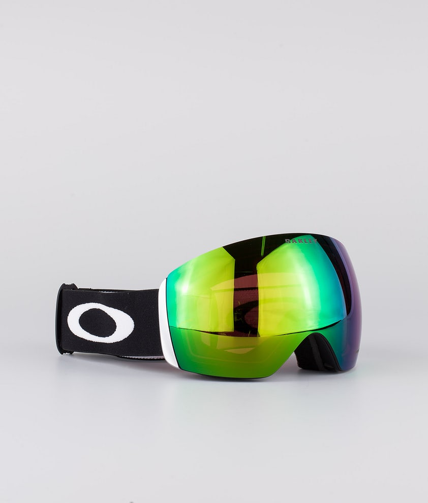 Oakley Flight Deck XL Ski Goggle Matte Black With Prizm Snow Jade Lens