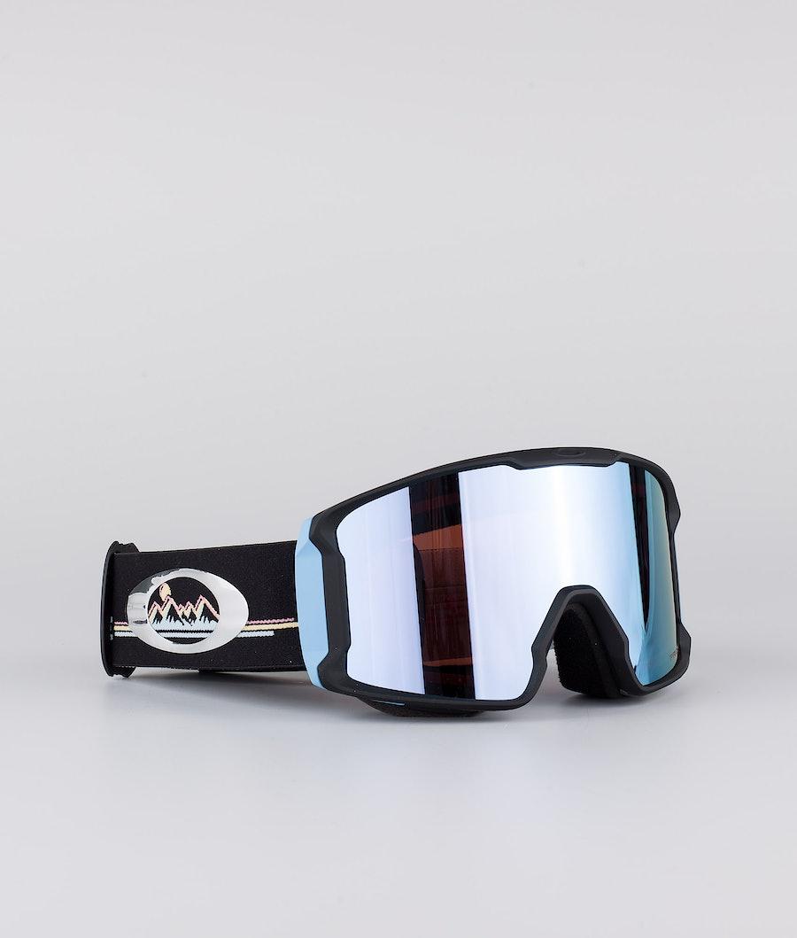 Oakley Line Miner XL Maschera Sci Chloe Kim Sig Neon Destination With Prizm Snow Sapphire Lens