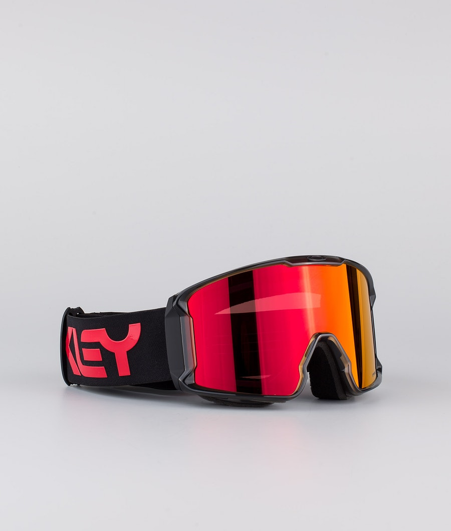 Oakley Line Miner XL Skibril Scotty James Sig Crystal Black With Prizm Snow Torch Lens