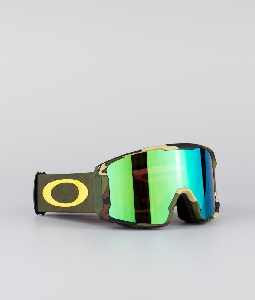 Oakley Line Miner XL Skidglasögon Sammy Carlson Sig Camo Greens With Prizm Snow Jade Lens