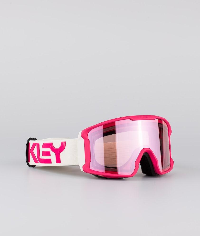 Oakley Line Miner XM Skibrille Factory Pilot Rubine Grey With Prizm Snow Hi Pink Lens