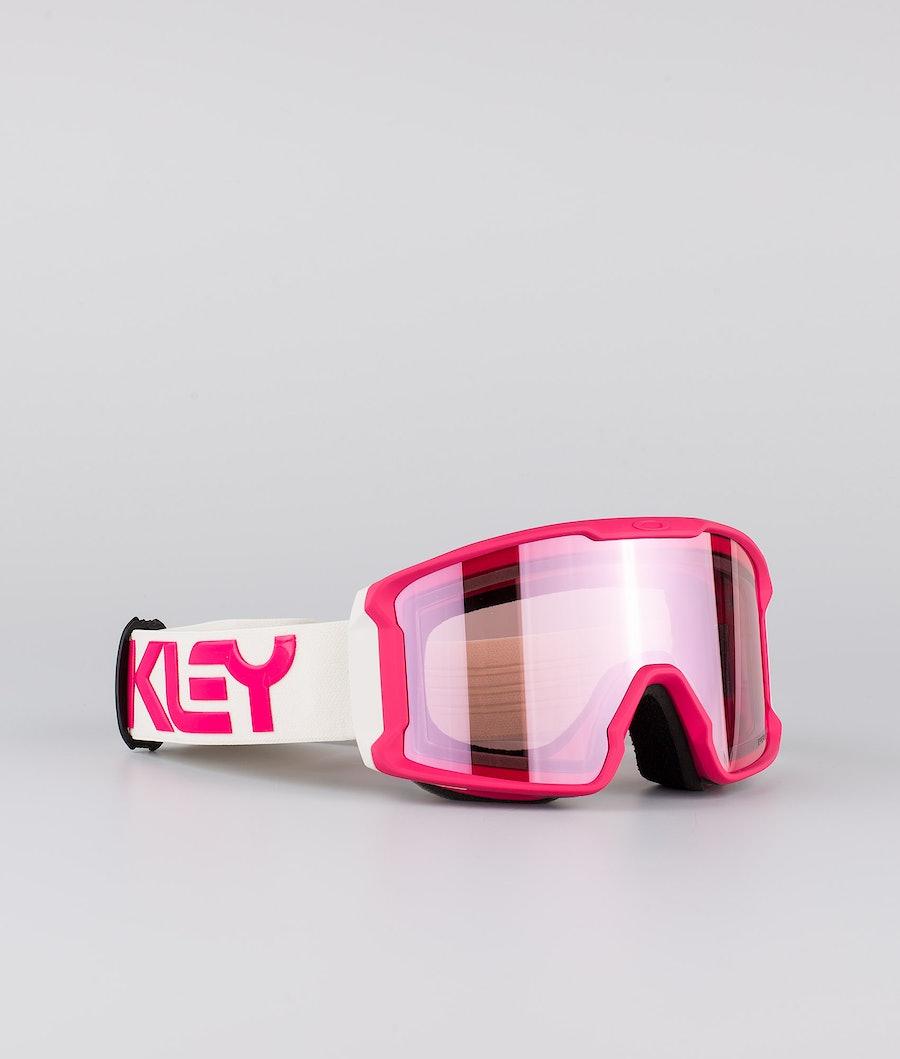 Oakley Line Miner XM Ski Goggle Factory Pilot Rubine Grey With Prizm Snow Hi Pink Lens