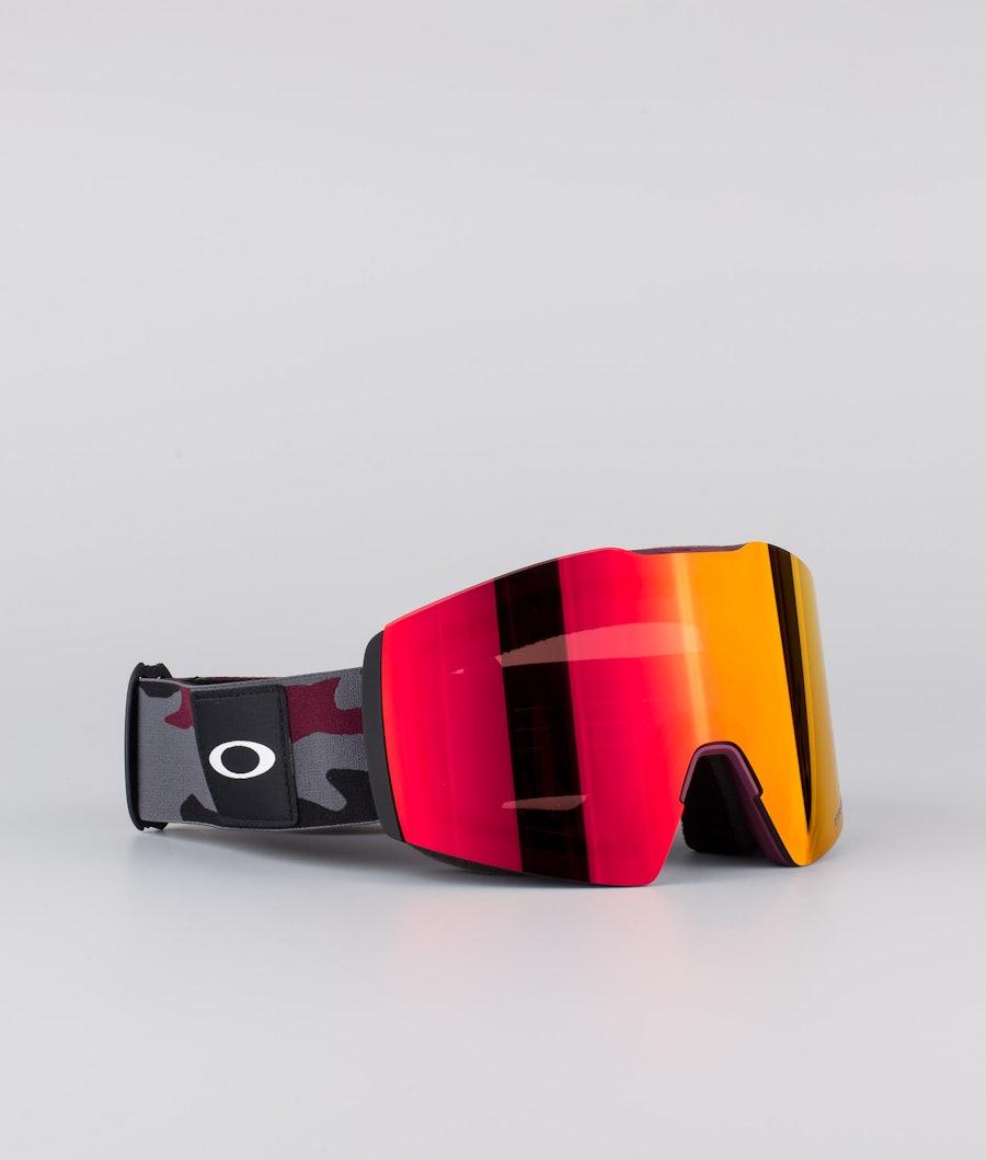 Oakley Fall Line XL Masque de ski Dark Grey Grenache Camo With Prizm Snow Torch Lens