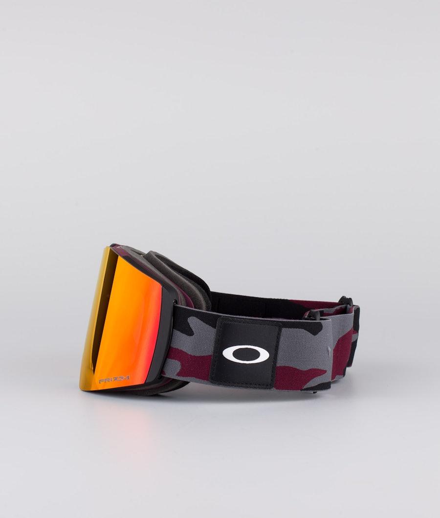 Oakley Fall Line XL Ski Goggle Dark Grey Grenache Camo With Prizm Snow Torch Lens