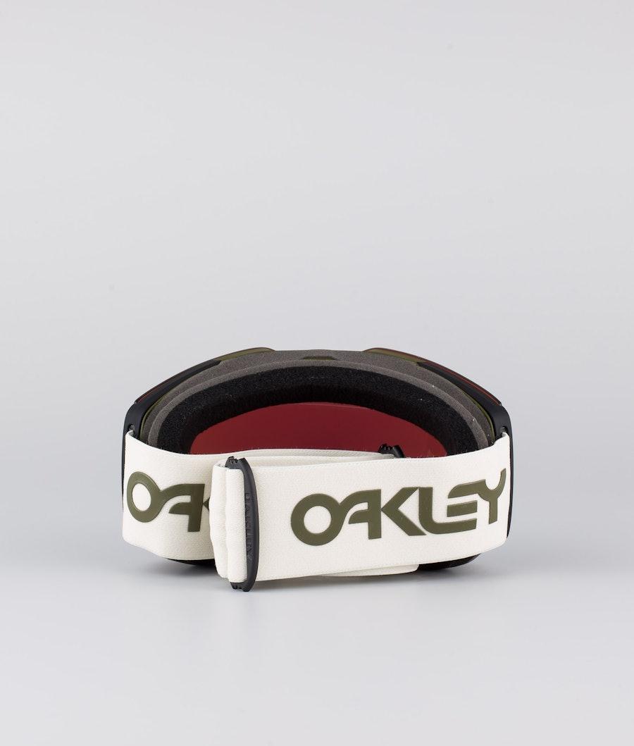 Oakley Fall Line XL Ski Goggle Factory Pilot Dark Brush Gre With Prizm Snow Jade Lens