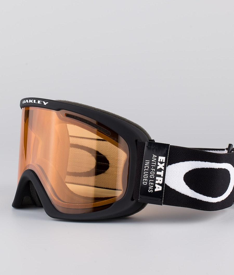 Oakley O Frame 2.0 Pro XL Skidglasögon Black With Persimmon & Dark Grey Lens