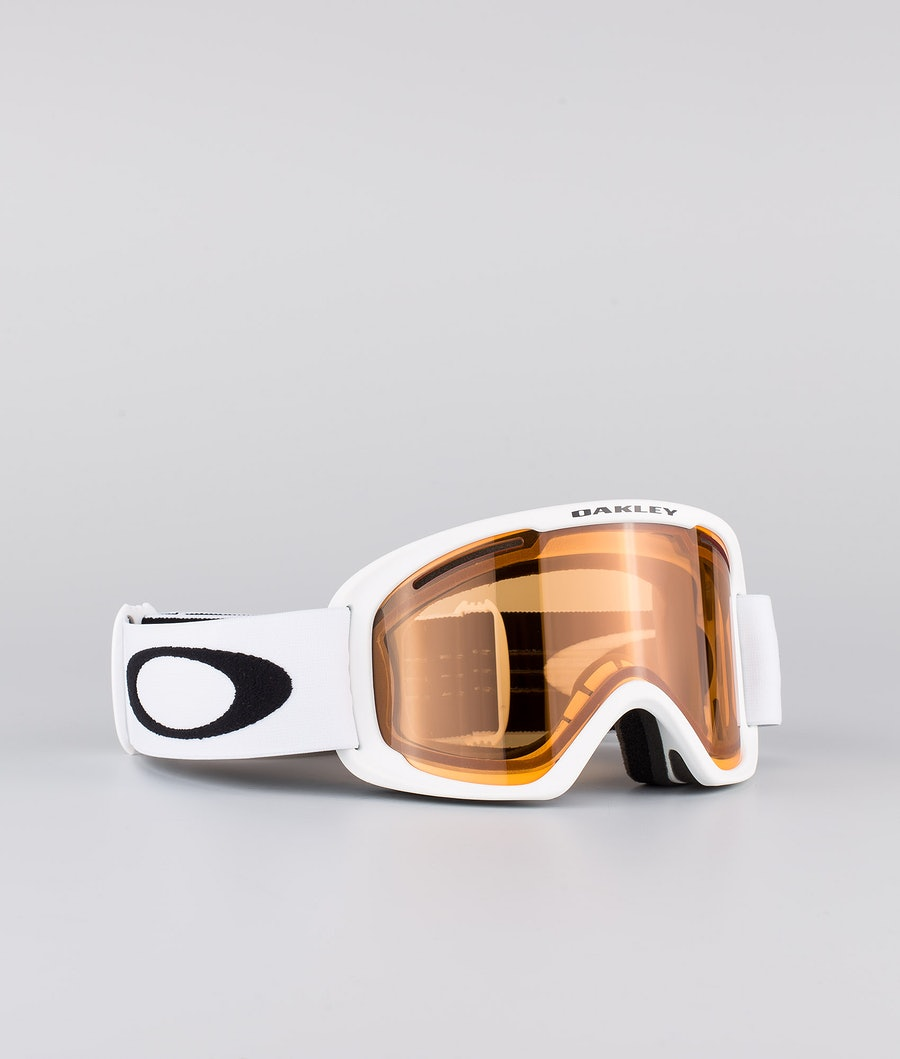 Oakley O Frame 2.0 Pro XL Skidglasögon White With Persimmon & Dark Grey Lens