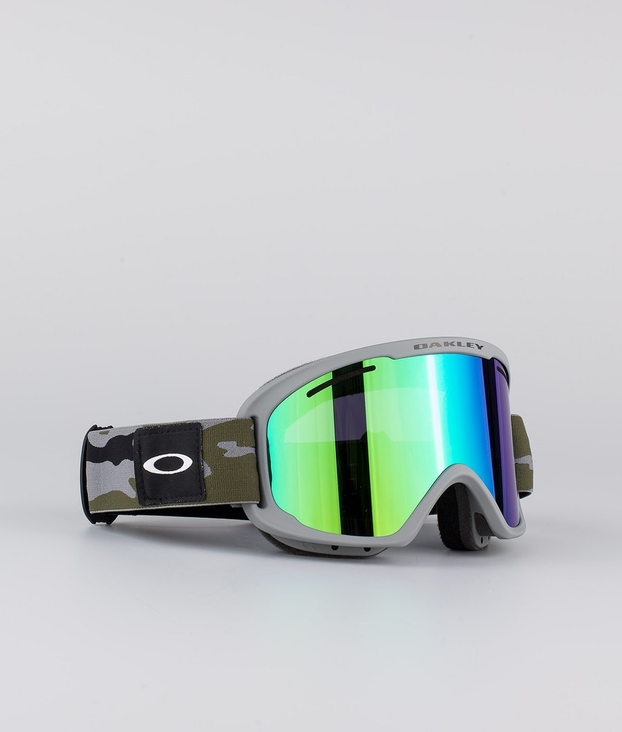 Oakley O Frame 2.0 Pro XM Skibrille Grey Brush Camo With Jade Iridium & Persimmon Lens