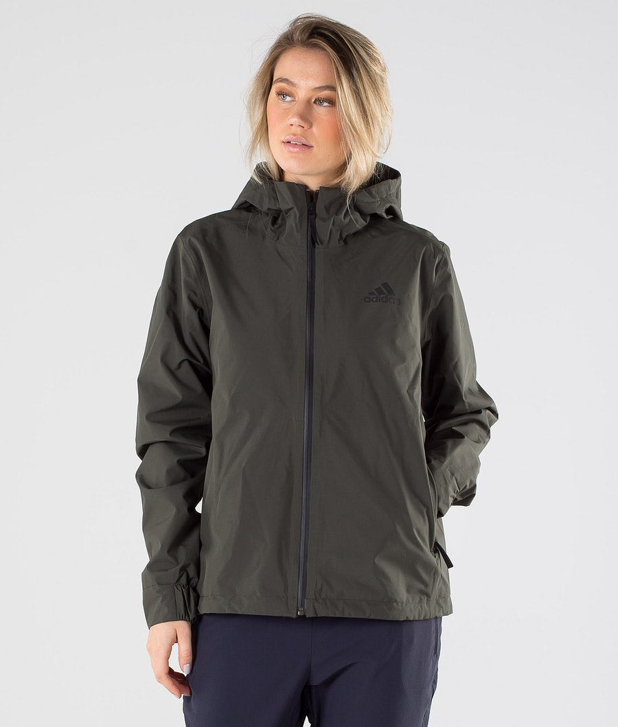 Adidas Terrex BSC 3 Stripes Rain Ready Jacket Legend Earth