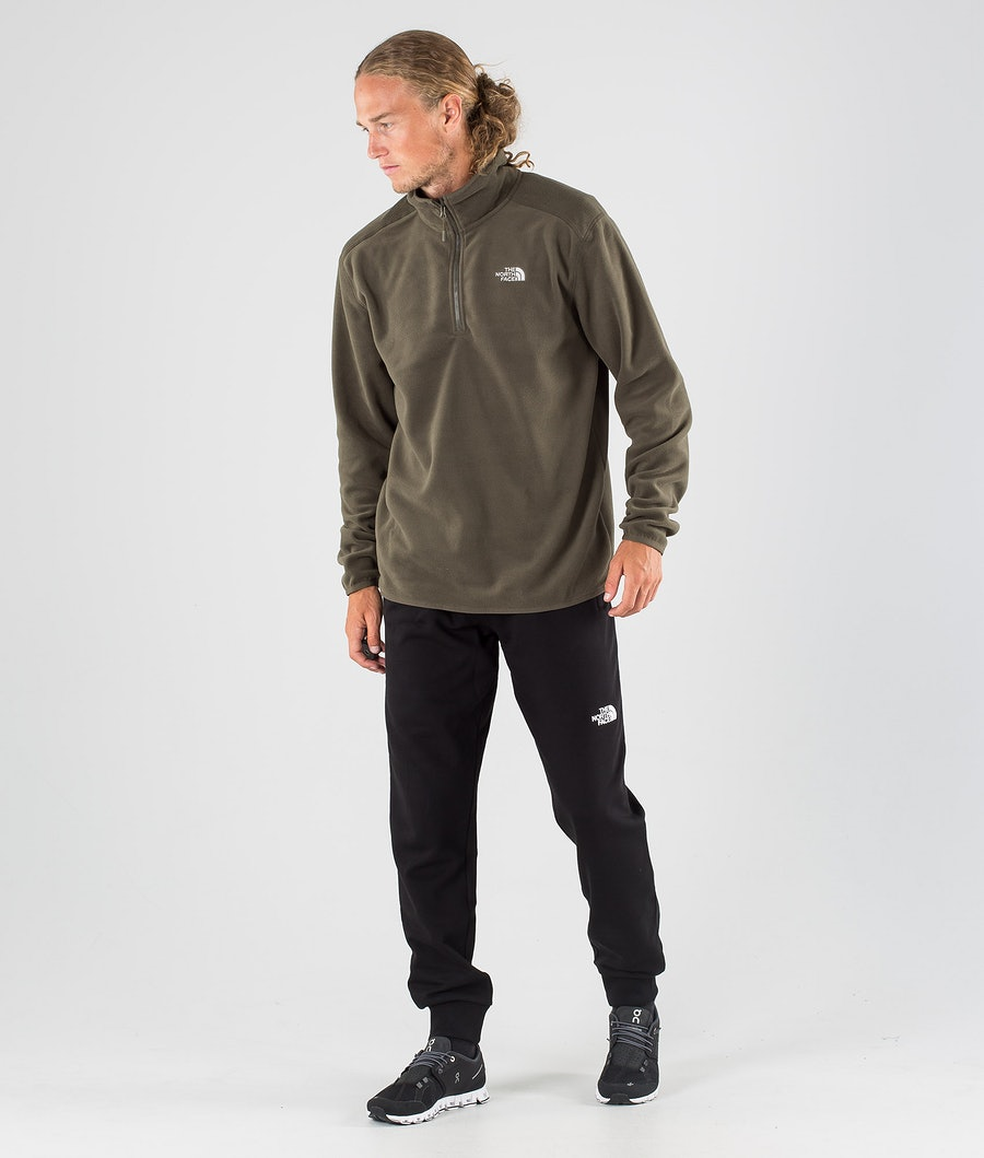 The North Face 100 Glacier 1/4 Zip Tröja New Taupe Green
