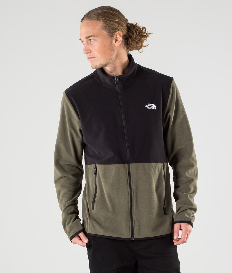 The North Face TKA Glacier Full Zip Gensere New Taupe Green/Tnf Black