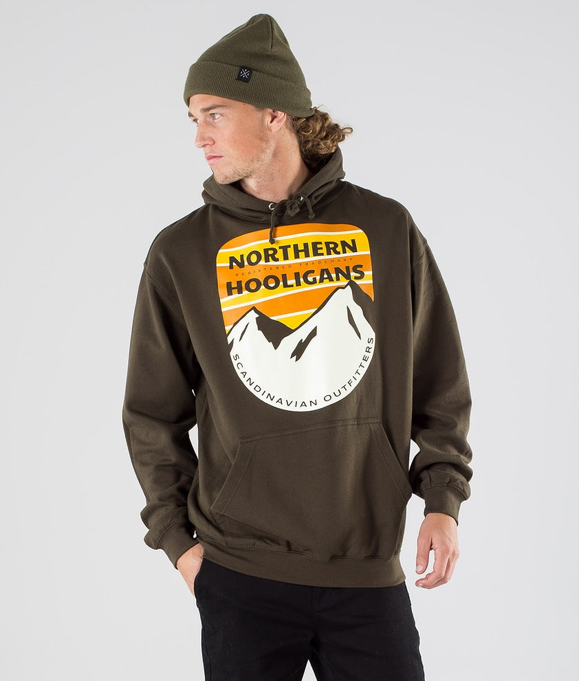 Northern Hooligans Scandinavian Outfitters Hoodie Dark Camping Green