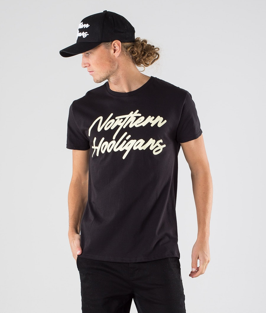 Northern Hooligans Script T-shirt Black