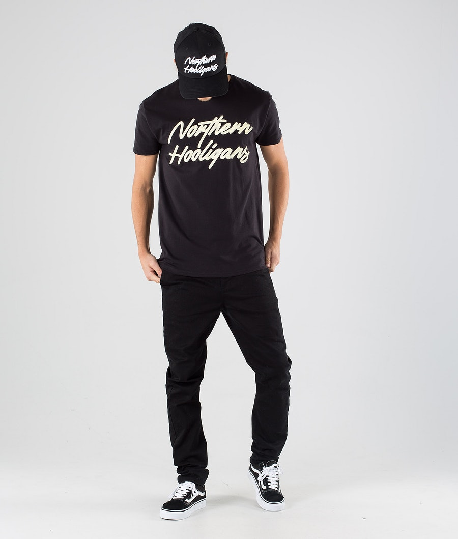 Northern Hooligans Script T-shirt Black