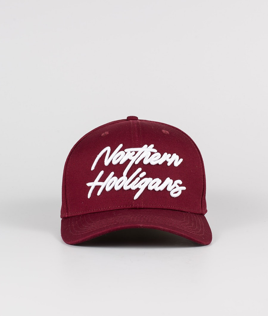 Northern Hooligans Script Snapback Caps Maroon