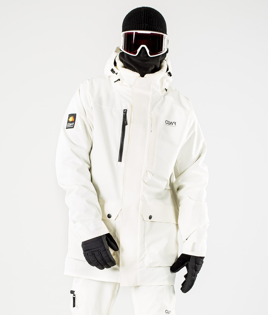 ColourWear Spine Snowboard Jacket Offwhite