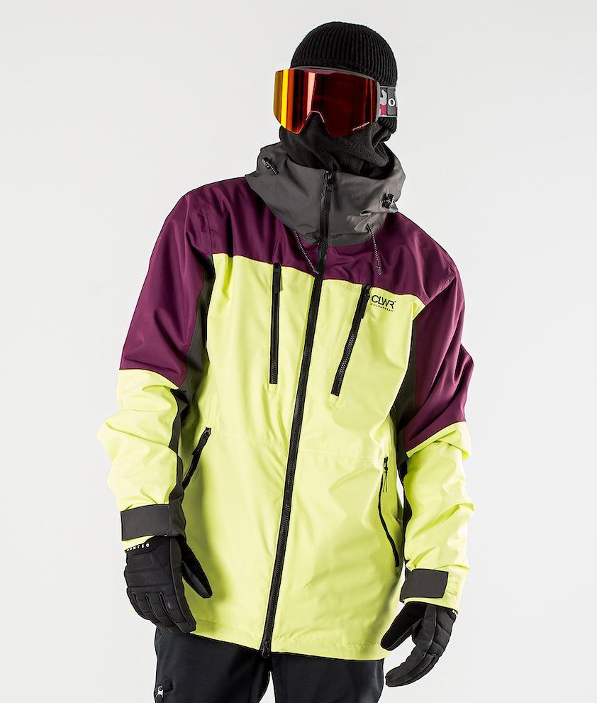 ColourWear Grid Snowboard jas Yellow