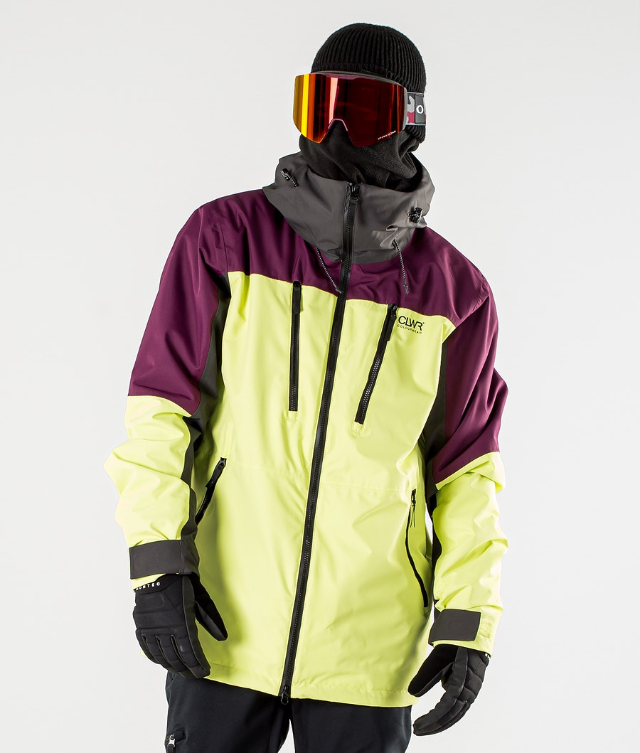 ColourWear Grid Snowboard Jacket Yellow