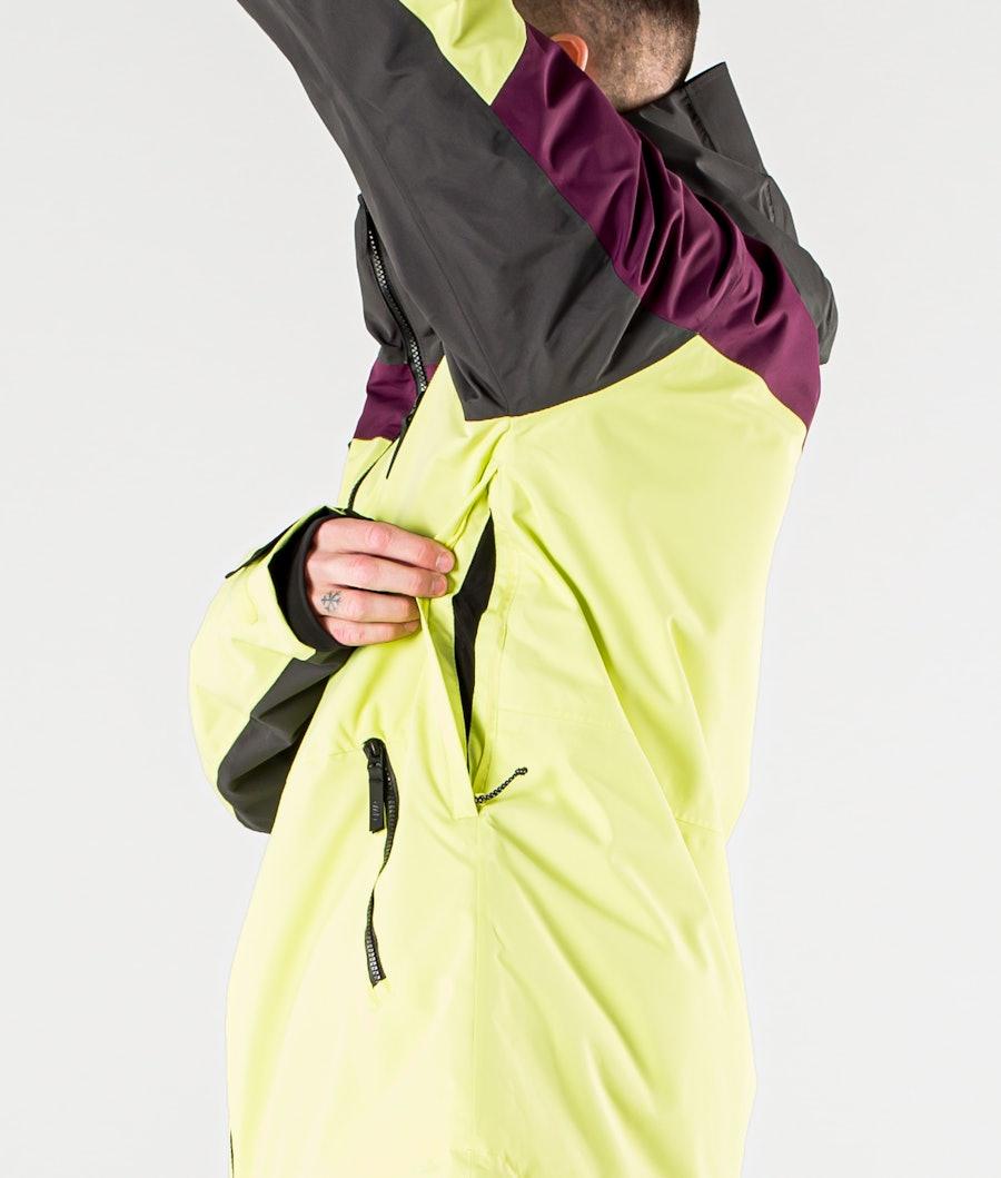 ColourWear Grid Snowboard Jacket Yellow