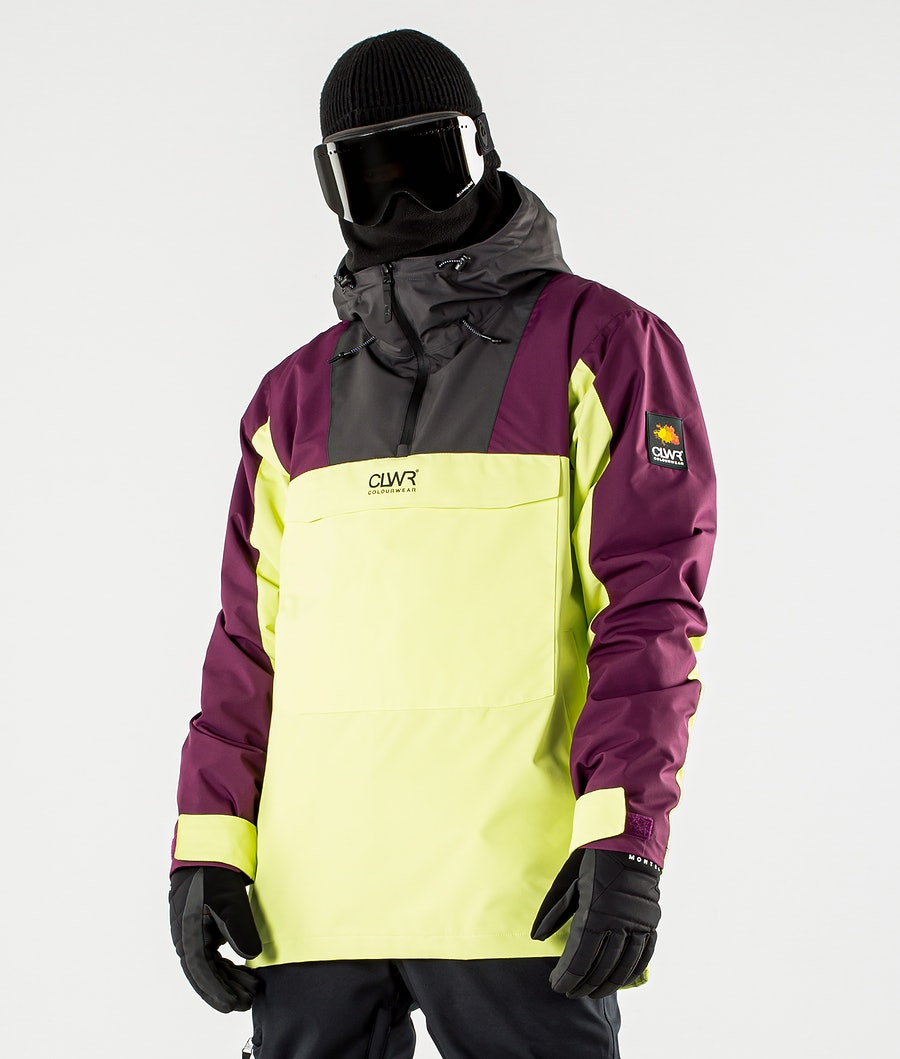 ColourWear Wear Anorak Snowboard Jacket Yellow