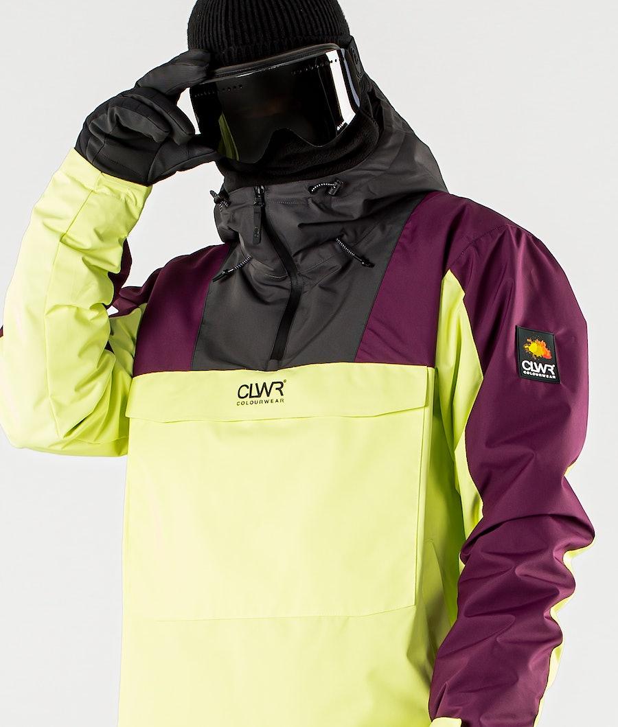 ColourWear Wear Anorak Snowboard Jacket Yellow