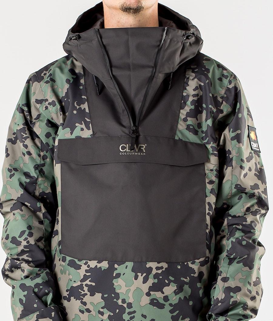 ColourWear Wear Anorak Snowboard Jacket Khaki