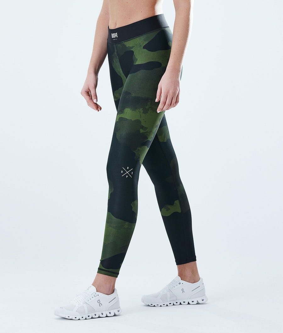 Dope Razor Leggings Green Camo