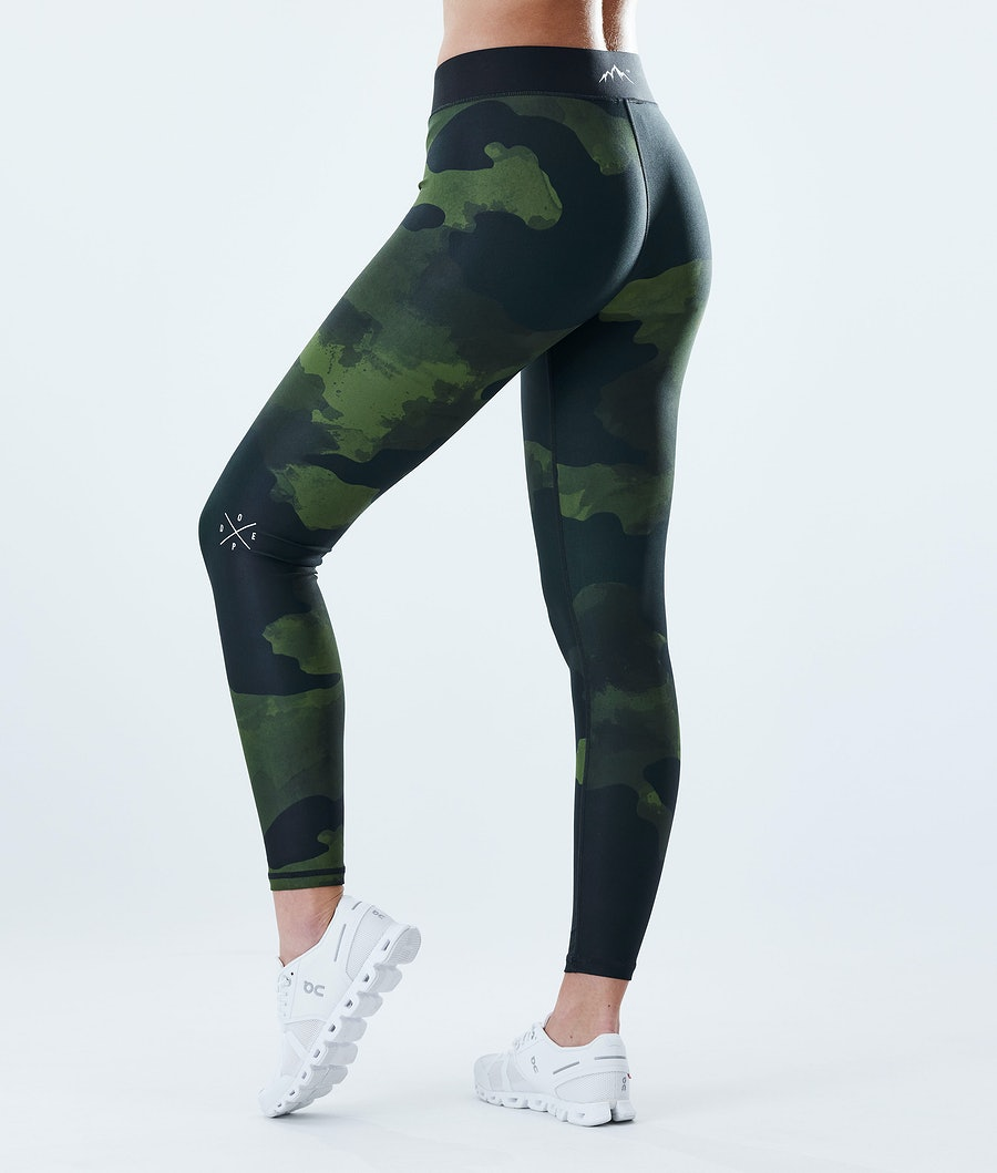 Dope Razor Leggings Damen Green Camo