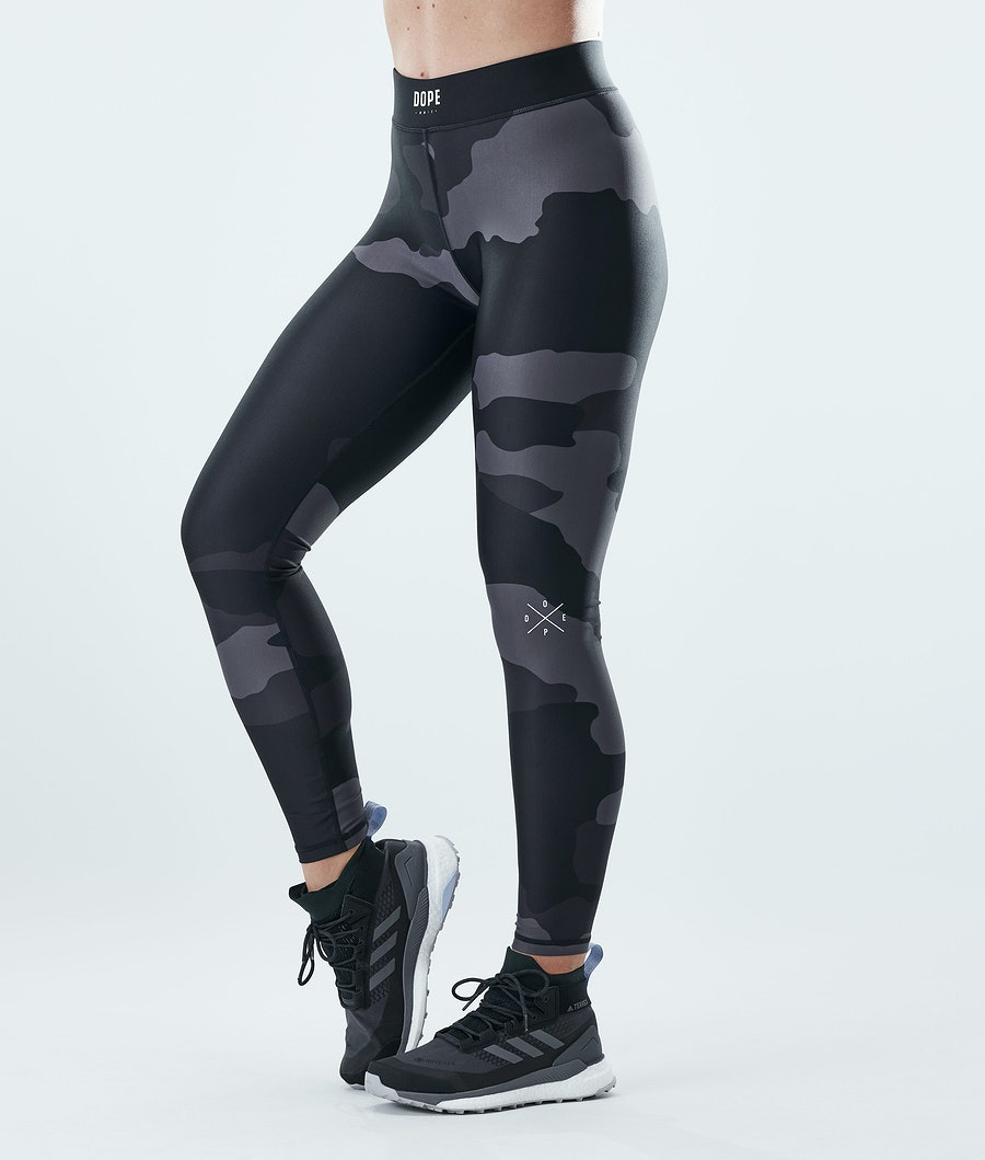 Dope Razor Leggings Black Camo