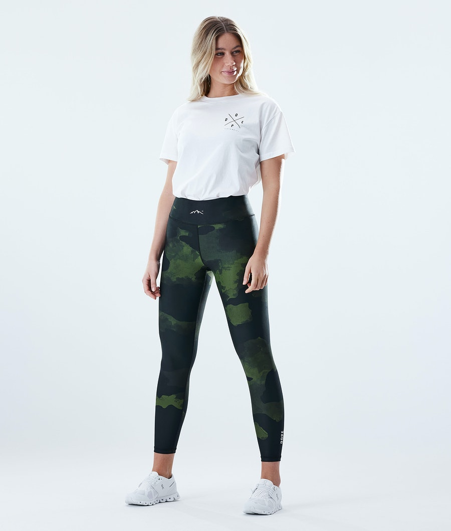 Dope Lofty Leggings Damen Green Camo