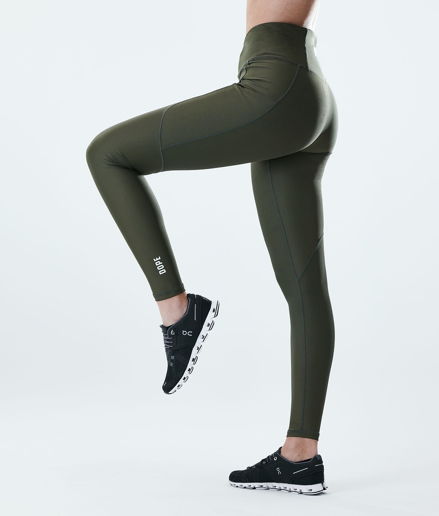 Dope Lofty Tech Leggings Olive Green