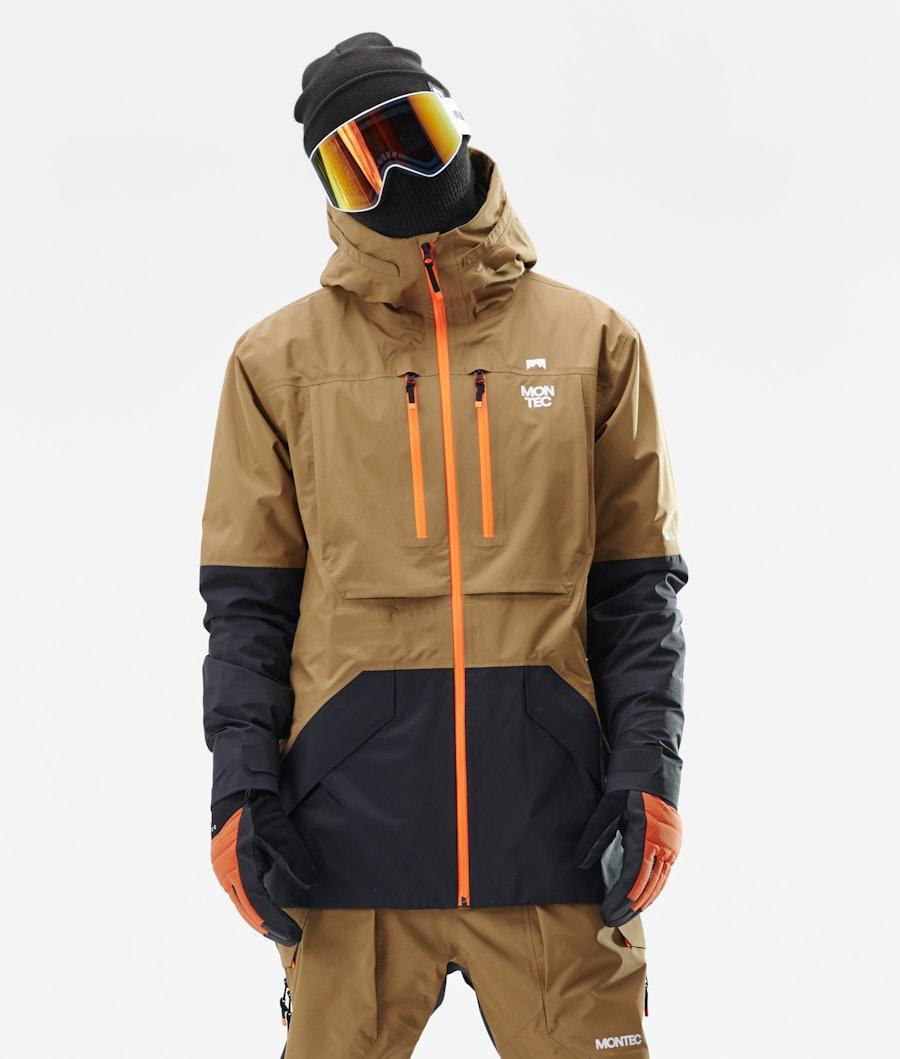 Montec Fenix 3L Giacca da Snowboard Gold/Black