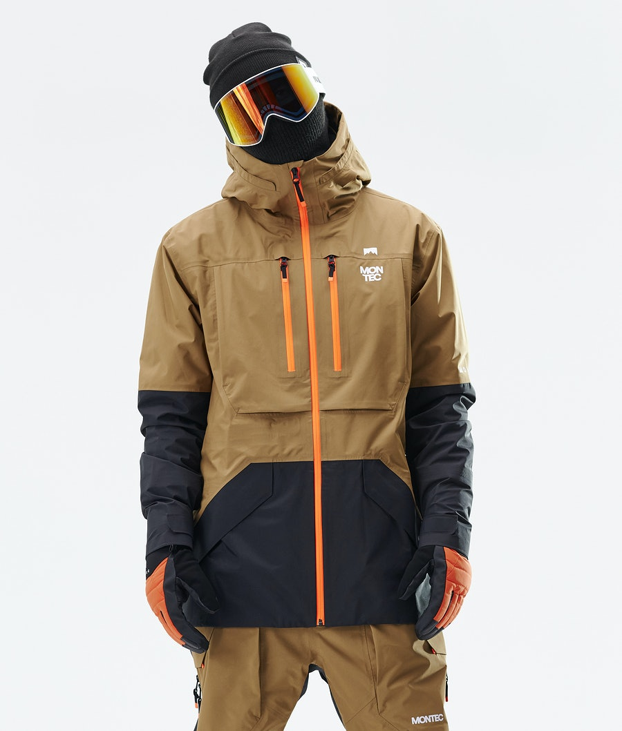Montec Fenix 3L Snowboardjakke Gold/Black