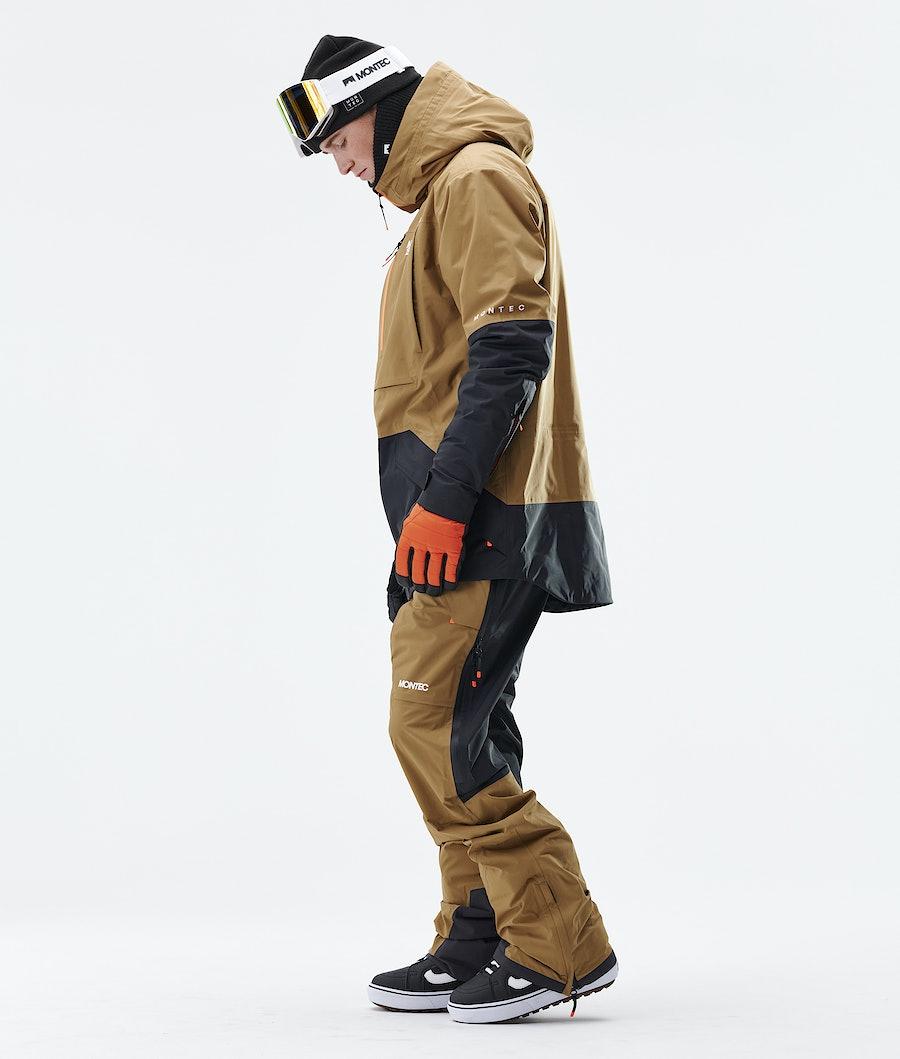 Montec Fenix 3L Snowboard Jacket Gold/Black