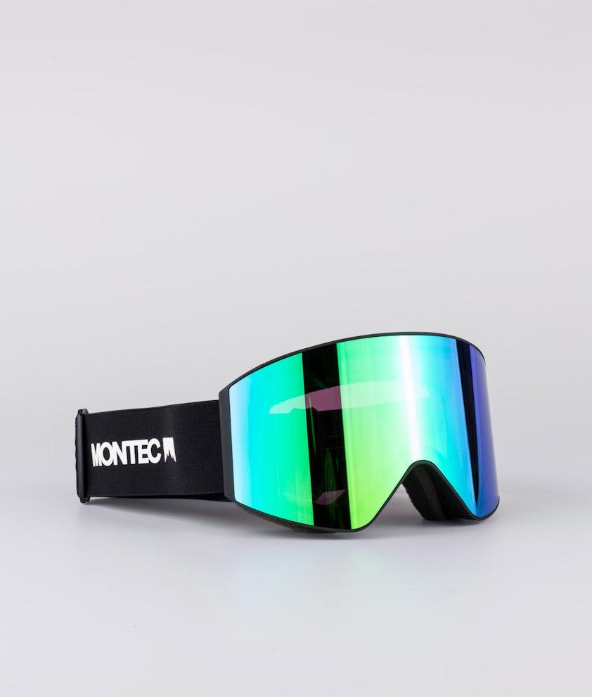 Montec Scope Large Ski Goggle Black W/Black Tourmaline Green
