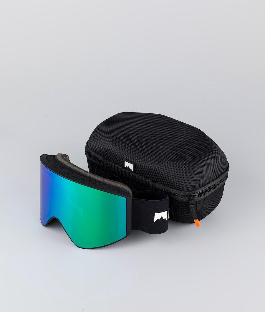 Montec Scope Large Skibrille Black W/Black Tourmaline Green