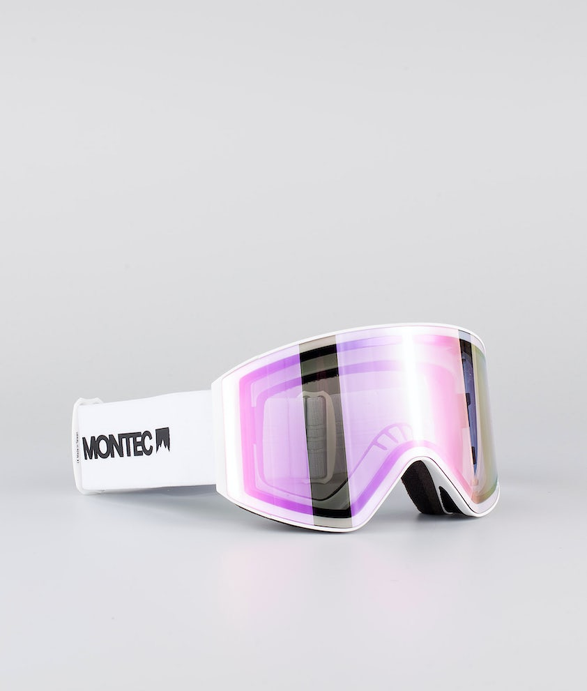 Montec Scope Large Skibrille White W/White Pink Sapphire