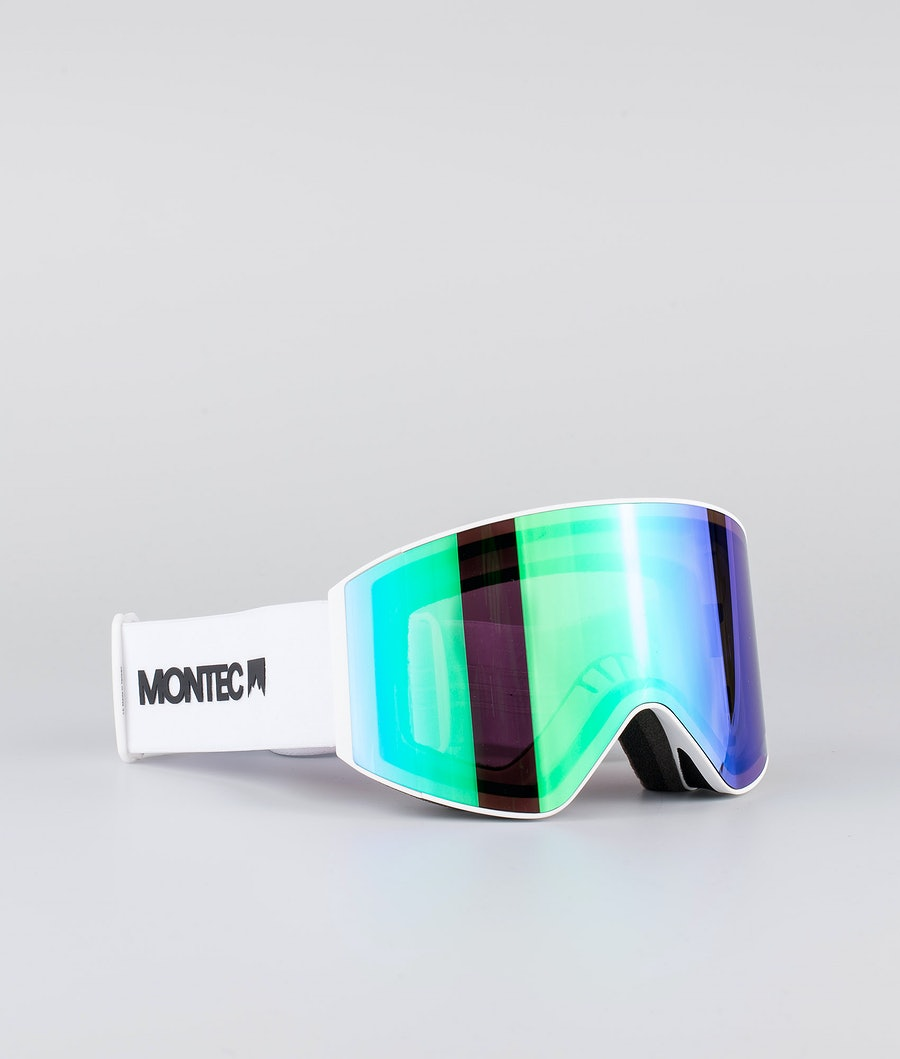 Montec Scope Large Ski Goggle White W/White Tourmaline Green
