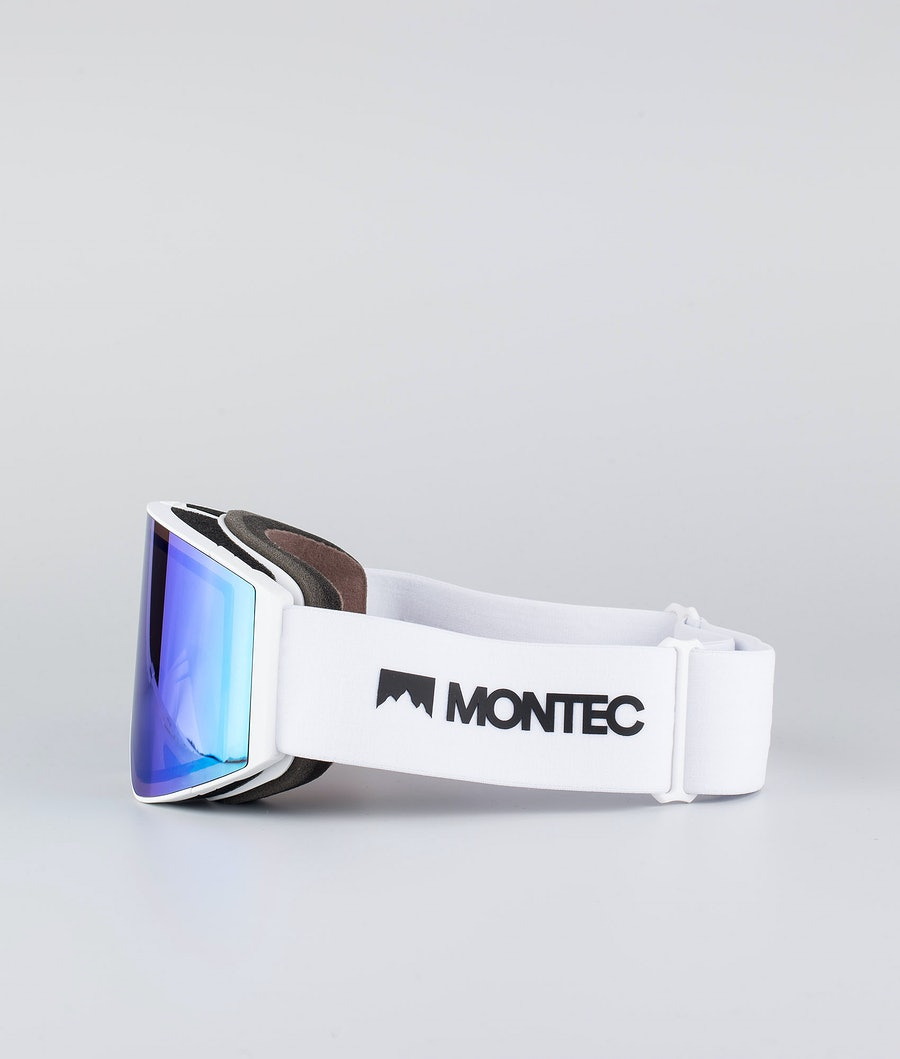 Montec Scope Large Skibrille White W/White Tourmaline Green